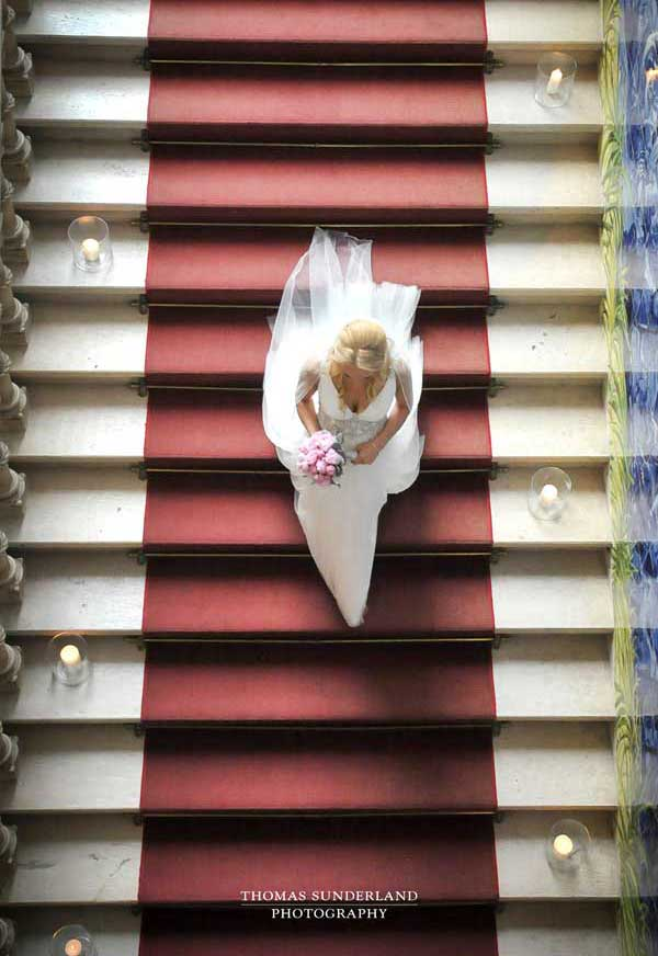 Thomas Sunderland Photography Bride on Stairs