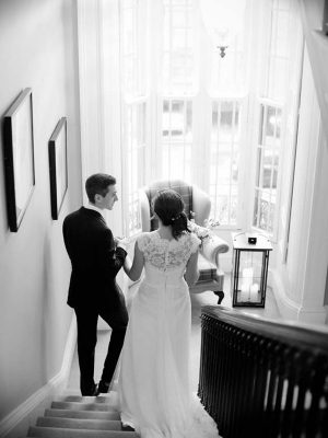 25-Fitzwilliam-Place-Bride-groom-backs-on-stairs