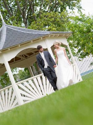 Annebrook House Hotel Wedding Couple At Pegoda