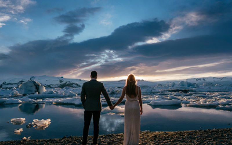 White Wedding in Iceland
