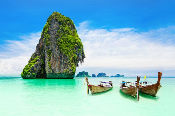 Picture of boats in Phuket in Thailand Honeymoon