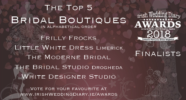 Irish Wedding Diary Awards 2018 Bridal Boutiques