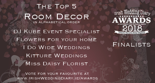 Irish Wedding Diary Awards 2018 Room Decor