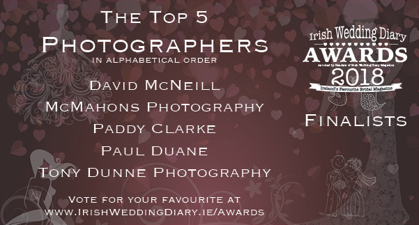 Irish Wedding Diary Awards 2018 Wedding Photographers