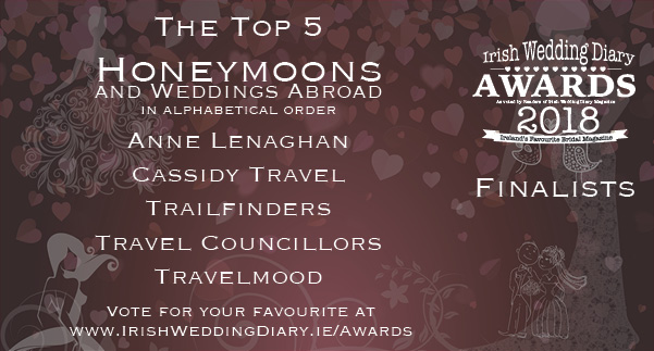 Irish Wedding Diary Awards 2018 Honeymoons and Weddings Abroad