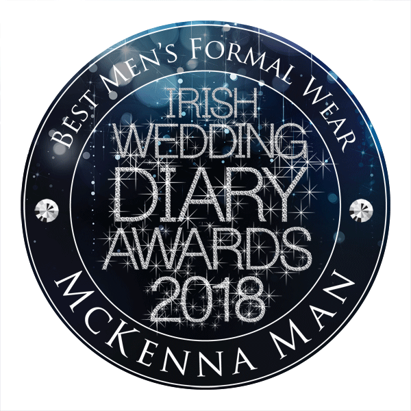 McKenna Men. Best Men's Formalwear - Irish Wedding Diary Awards 2018