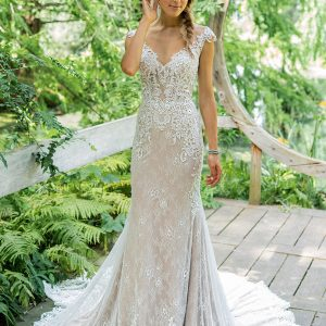 Lillian West Wedding Dress Style 66012 Front view