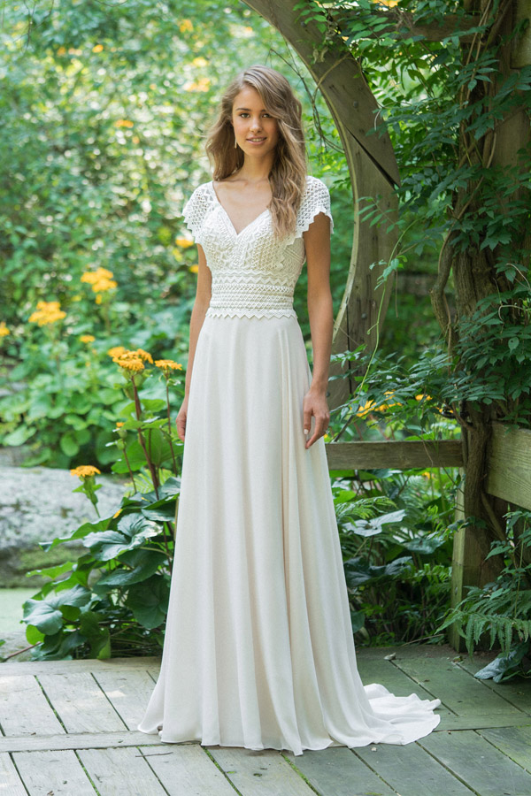 Lillian West Wedding Dress Style 66016 Front View