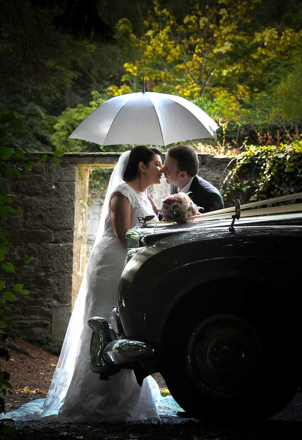 Thomas Sunderland Photography Bride and Groom with Umbrella