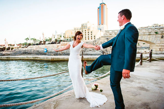 Frolicking by the Sea during their Wedding in Malta