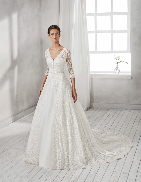 Luna Novias Wedding Dress Hesel