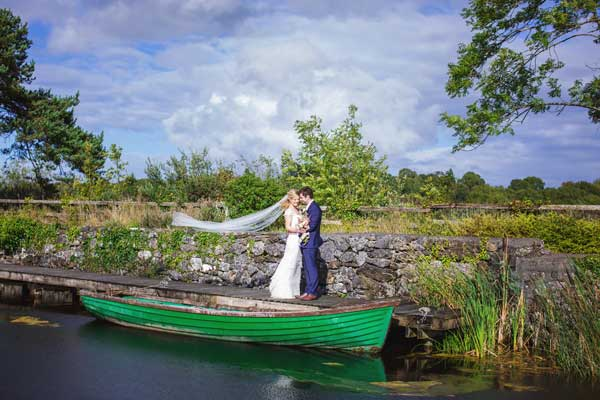 Real Wedding at Coolbawn Quay Victoria and David in Row Boat