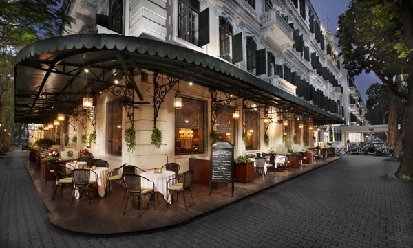 Sip a Cocktail and watch the world go by in the Metropole Hanoi