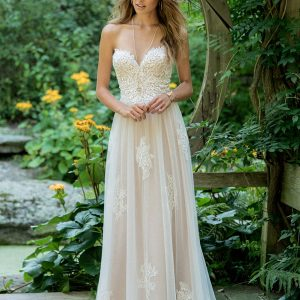 Lillian West Wedding Dress Style 66008 Front View