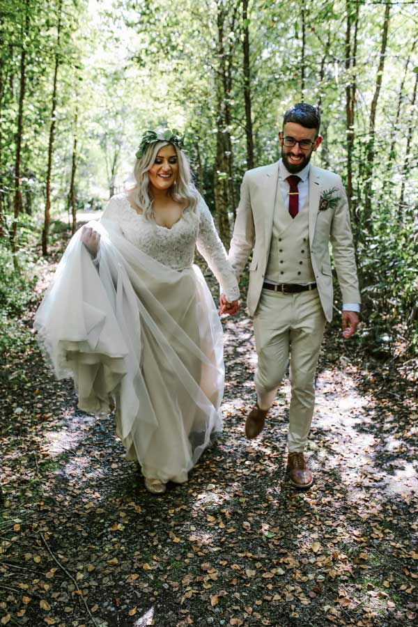 Louise and Jack Real Wedding with Tamem Michael in the forest