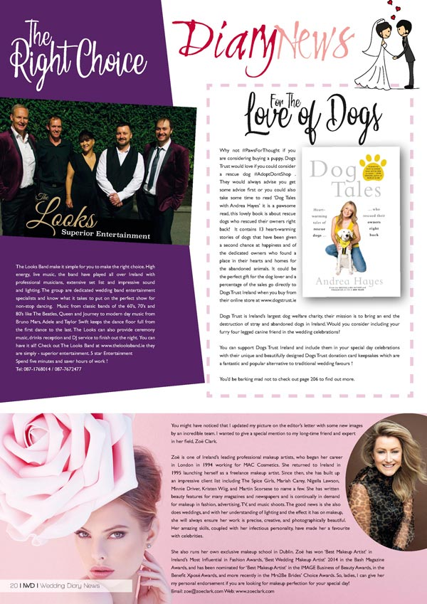 Irish Wedding Diary Magazine Summer 2019 - Wedding News