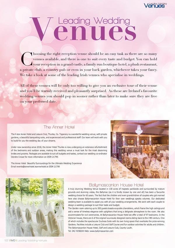 Irish Wedding Diary Magazine Summer 2019 - Wedding Venues