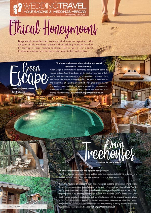 Irish Wedding Diary Magazine Autumn 2019 Ethical Honeymoons