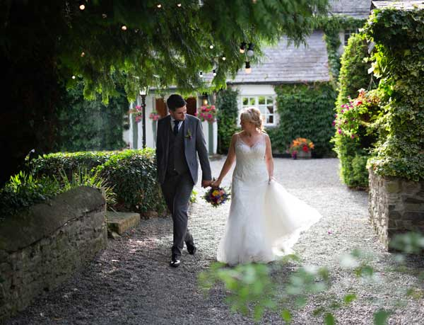 Real Wedding Rathsallagh House hand in hand In the Garden