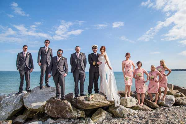 Suzann and John's Real Wedding in the Garryvoe Hotel Bridal Party