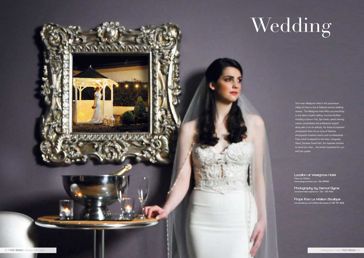 Dress by Aideen Cross Designs Shot at the Westgrove Hotel Clane