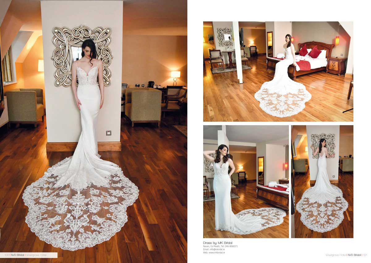 Dress by KM Bridal shot at the Westgrove Hotel Clane